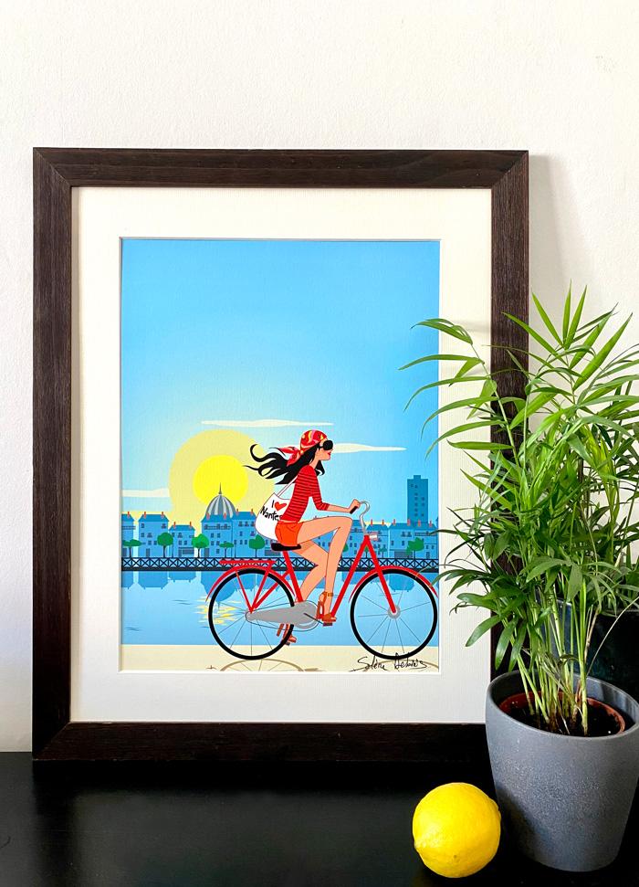 poster Nantes Loire vélo