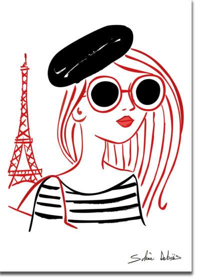 poster parisienne femme