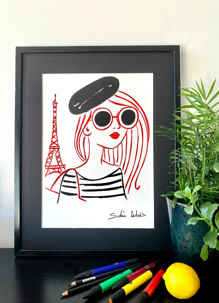 poster parisienne tour Eiffel graphique