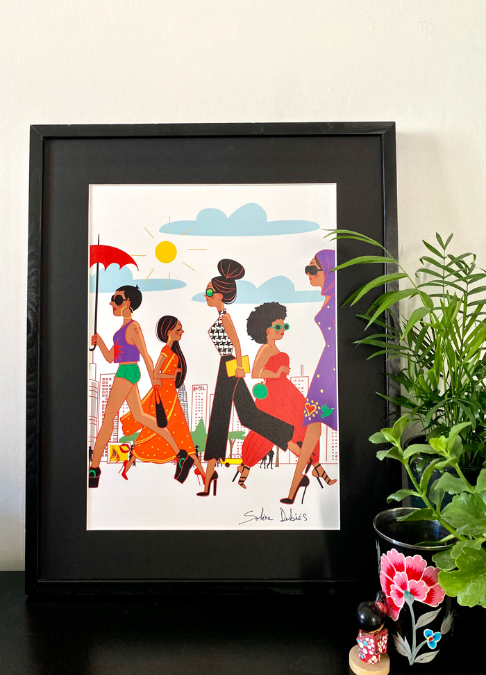 poster couleurs Asie femmes