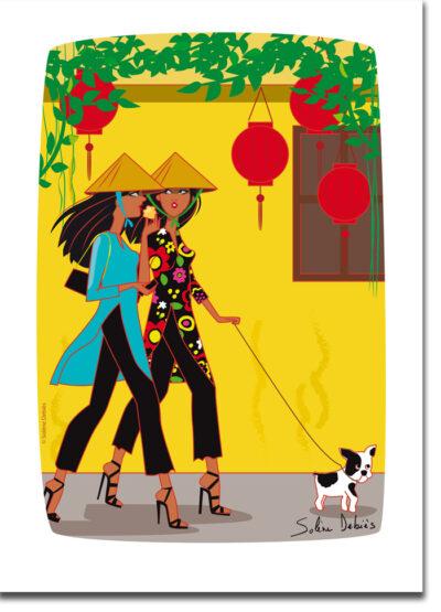 affiche voyage Vietnam Toi An femmes