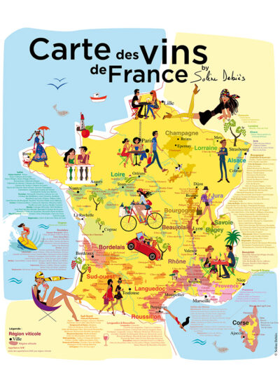poster vins de France appellations aoc
