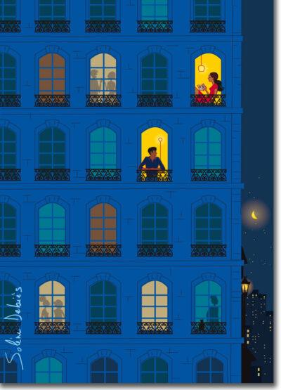 affiche Paris nuit lumière