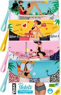 Illustration Packagings Pockets underwear